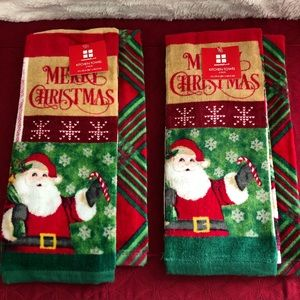 (#CHT1) TWO SETS OF CHRISTMAS KITCHEN TOWELS